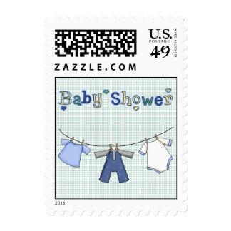 Línea de ropa sello de la ducha del bebé