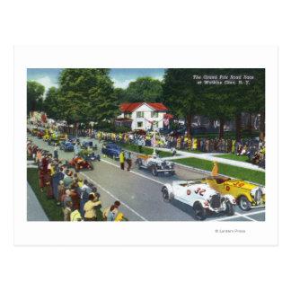 Línea de salida en la raza auto de Grand Prix Tarjeta Postal