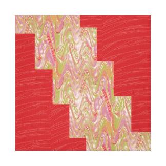 LÍNEA de seda roja tiras de la tela del ARTE: Gráf Impresion En Lona