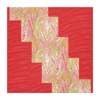 LÍNEA de seda roja tiras de la tela del ARTE: Gráf Lona Envuelta Para Galerías
