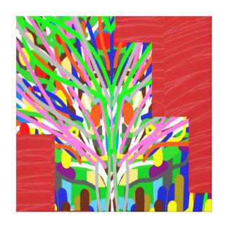 LÍNEA de seda roja tiras de la tela del ARTE: Gráf Impresiones De Lienzo