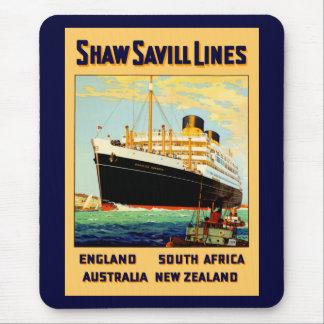 Línea de Shaw Savill Mousepad