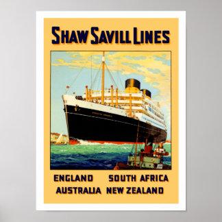 Línea de Shaw Savill Póster