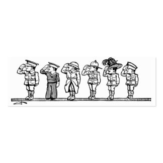 Línea de tarjeta de visita de los militares
