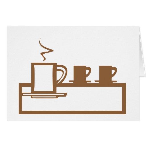 Línea de tazas de café tarjetón