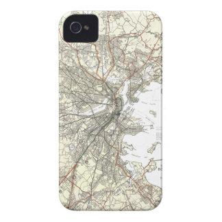 Línea de tránsito de Boston del vintage mapa iPhone 4 Protector