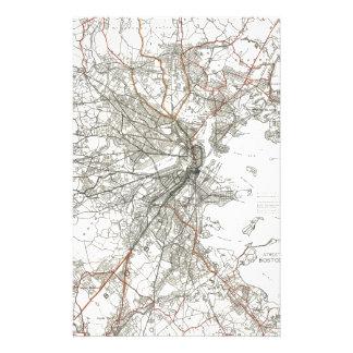 Línea de tránsito de Boston del vintage mapa Papelería