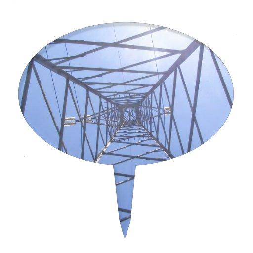 Línea de transmisión eléctrica torre decoraciones para tartas