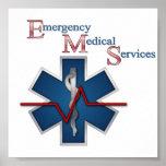 Línea de vida de EMT Póster