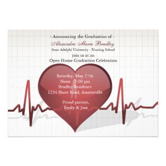 Línea de vida invitación médica de la graduación