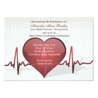 Línea de vida invitación médica de la graduación invitación 12,7 x 17,8 cm