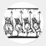 Línea de Vikingos Etiquetas Redondas