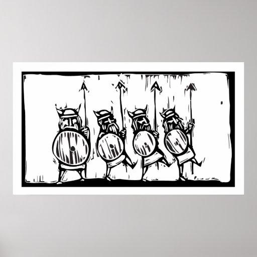 Línea de Vikingos Póster