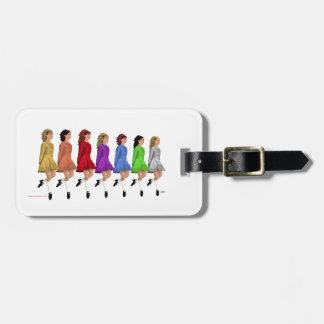 Línea del arco iris etiquetas de maletas