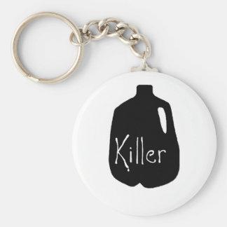 Línea del asesino de la leche llavero redondo tipo pin