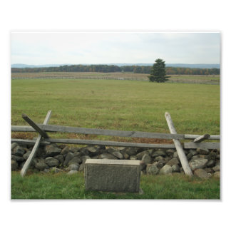 Línea del campo de batalla de Gettysburg de la esc Foto