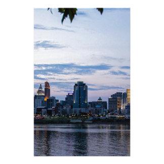 Línea del cielo de Cincinnati Papelería De Diseño