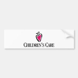 Línea del cuidado de los niños pegatina para auto