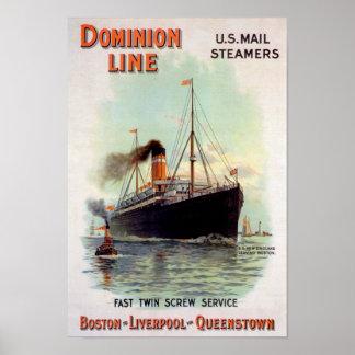 Línea del dominio posters
