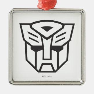Línea del escudo de G1 Autobot Adorno Cuadrado Plateado