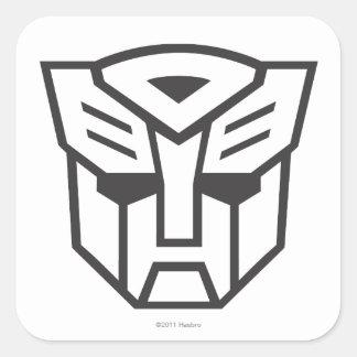 Línea del escudo de G1 Autobot Calcomanías Cuadradases