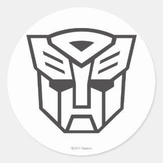 Línea del escudo de G1 Autobot Etiqueta Redonda