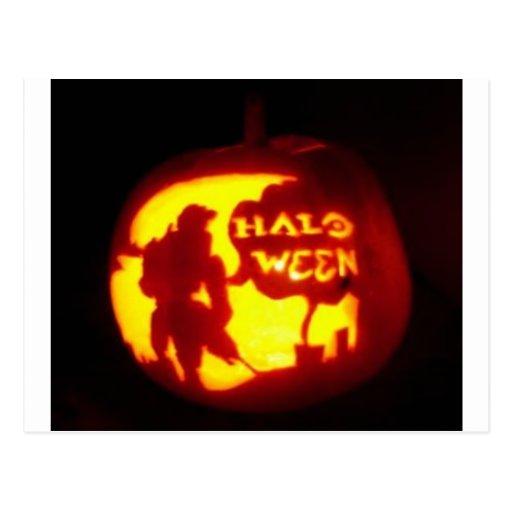 Línea del feliz Halloween Postal