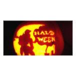 Línea del feliz Halloween Tarjetas Personales