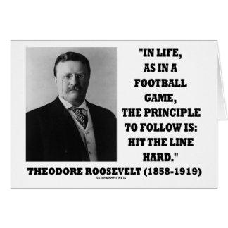 Línea del golpe del partido de fútbol de la vida d tarjeta de felicitación