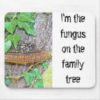 Línea del hongo de la familia mouse pads