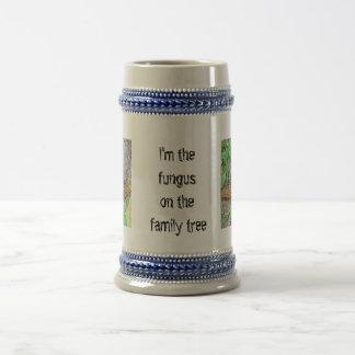 Línea del hongo de la familia taza