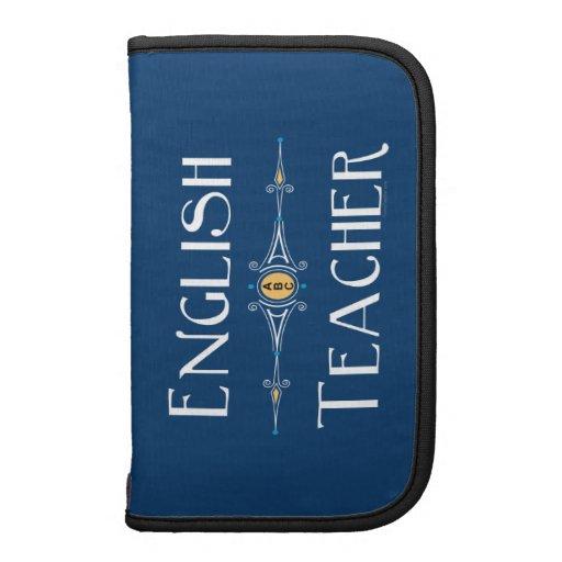 Línea del profesor de inglés organizadores