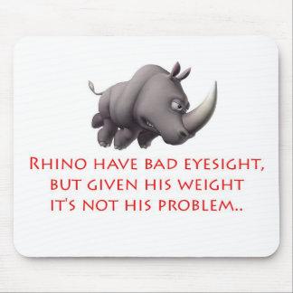 Línea del rinoceronte tapete de ratón