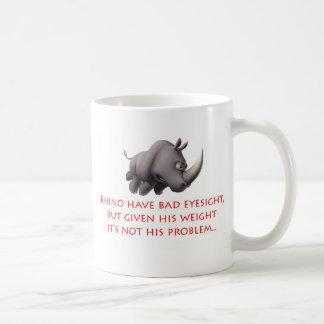 Línea del rinoceronte taza