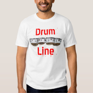 Línea del tambor playera