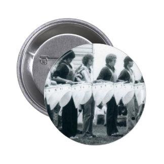 Línea del tenor de la escuela vieja - Seattle Impe Pin Redondo De 2 Pulgadas