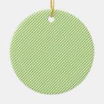 Línea diagonal modelo de la verde lima moderna de  ornamento de navidad