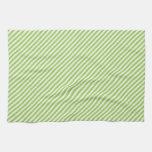 Línea diagonal modelo de la verde lima moderna de  toallas