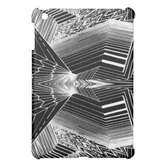 Línea diseño abstracto negro y blanco del arte