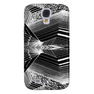 Línea diseño abstracto negro y blanco del arte funda para galaxy s4
