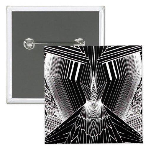 Línea diseño abstracto negro y blanco del arte geo pins