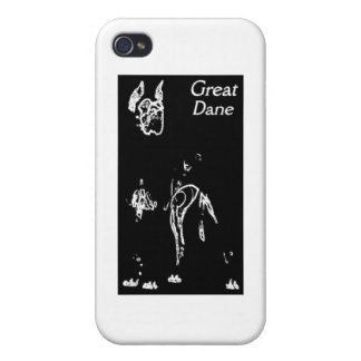 LÍNEA DISEÑO DE GREAT DANE DEL ARTE iPhone 4/4S FUNDA