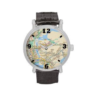 Línea diseño de Nueva York Relojes De Mano