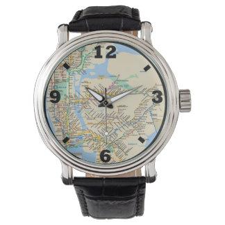 Línea diseño de Nueva York Relojes De Pulsera