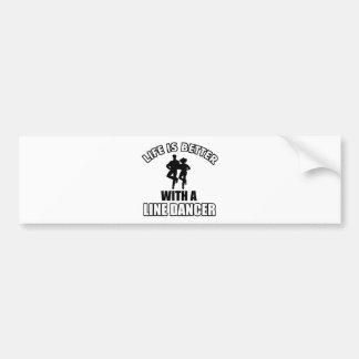 Línea diseños del bailarín pegatina de parachoque