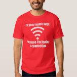 Línea divertida de la recogida: Conexión de WIFI Remera