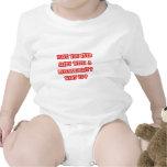 Línea divertida de la recogida del psicólogo traje de bebé