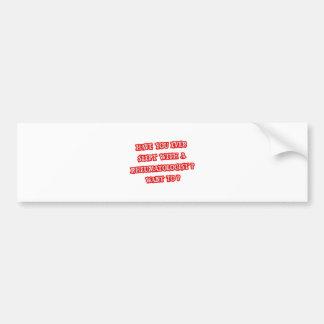 Línea divertida de la recogida del reumatólogo pegatina de parachoque