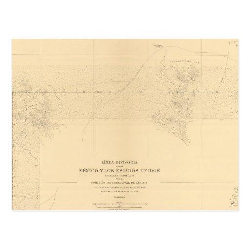 Linea Divisoria Entre México 3 Postales