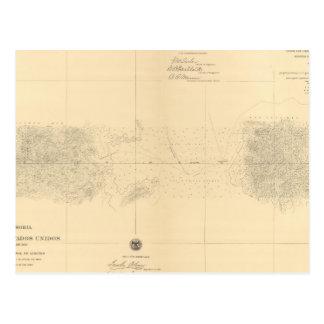 Linea Divisoria Entre México 5 Tarjetas Postales